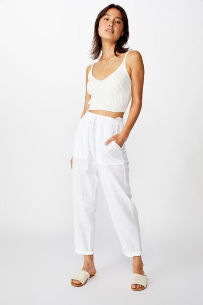Weekend Pant, WHITE
