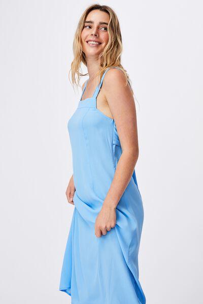 Woven Maddy Tie Back Midi Dress, COLLEGIATE BLUE