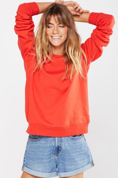 Ferguson Graphic Crew Sweater, POPPY RED