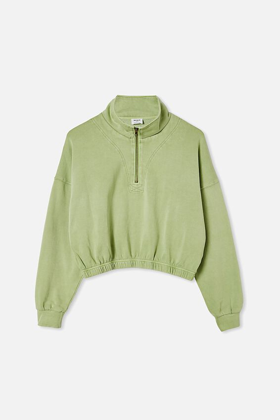 Paris Qtr Zip Through, AVOCADO