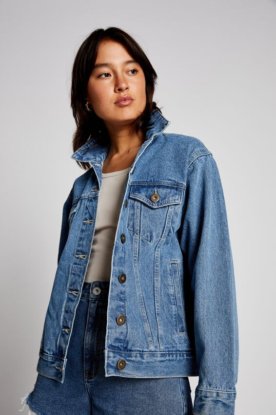Not Your Boyfriends Denim Trucker Jacket, CALI BLUE