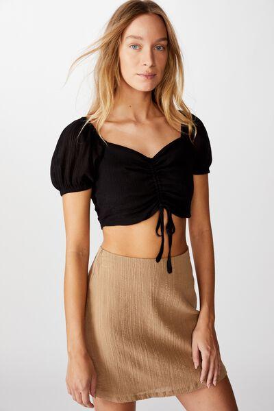 Wren Mini Skirt, NATURAL