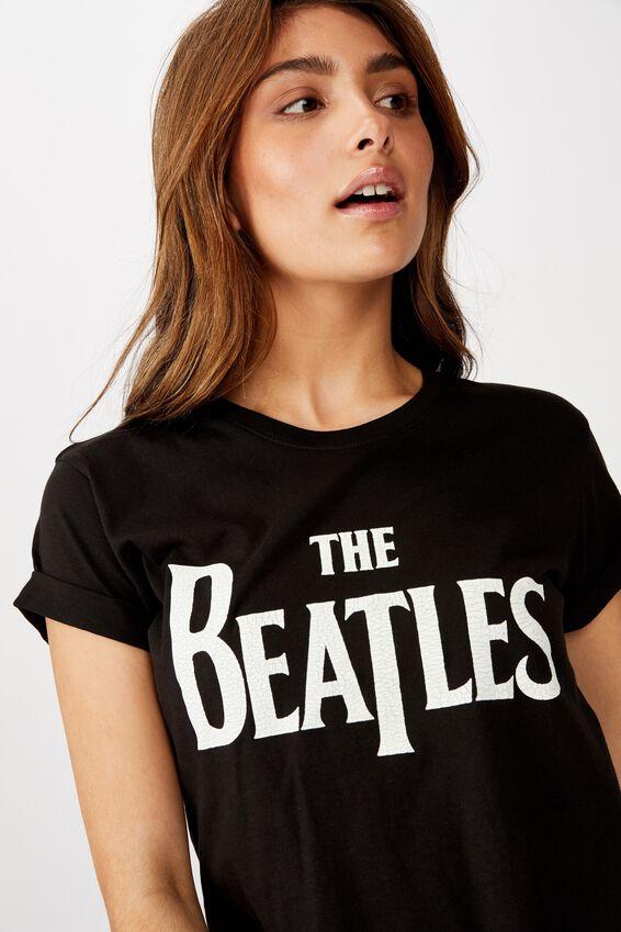 Classic Band T Shirt, LCN APP BEATLES THE LOGO/BLACK