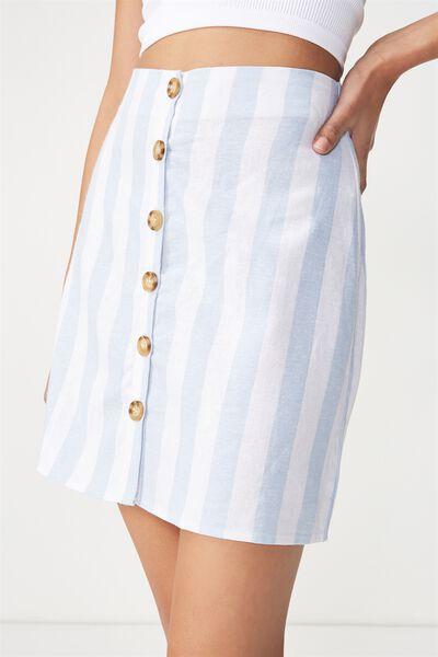 Woven Medina Mini Skirt, ANNA STRIPE ANGEL FALLS