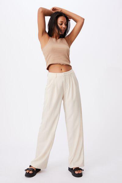 Jordan Oversized Pleat Pant, GREY MORN