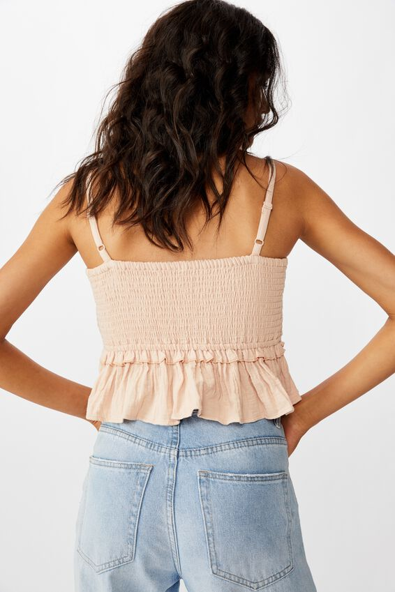 Gypsy Shirred Rouched Bandeau, MISTY ROSE