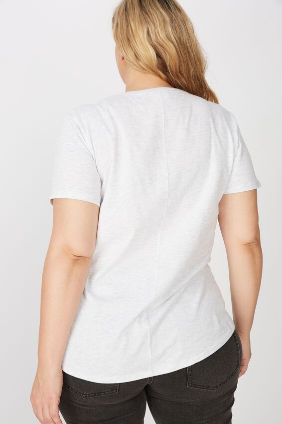 Curve The One Crew Tee, SILVER MARLE