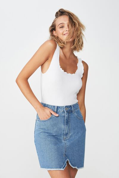 The Re-Made Mini Denim Skirt, 90S BLUE