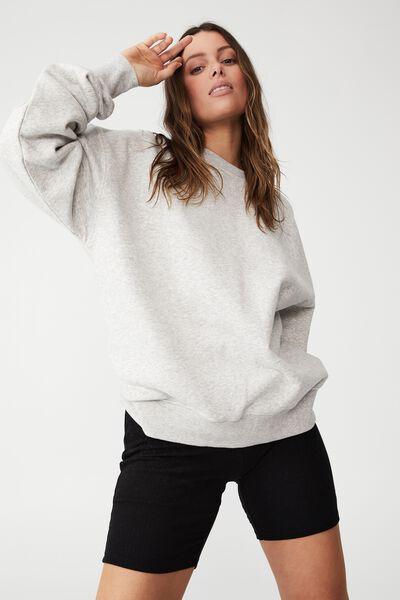 Classic Sweatshirt, LIGHT GREY MARL