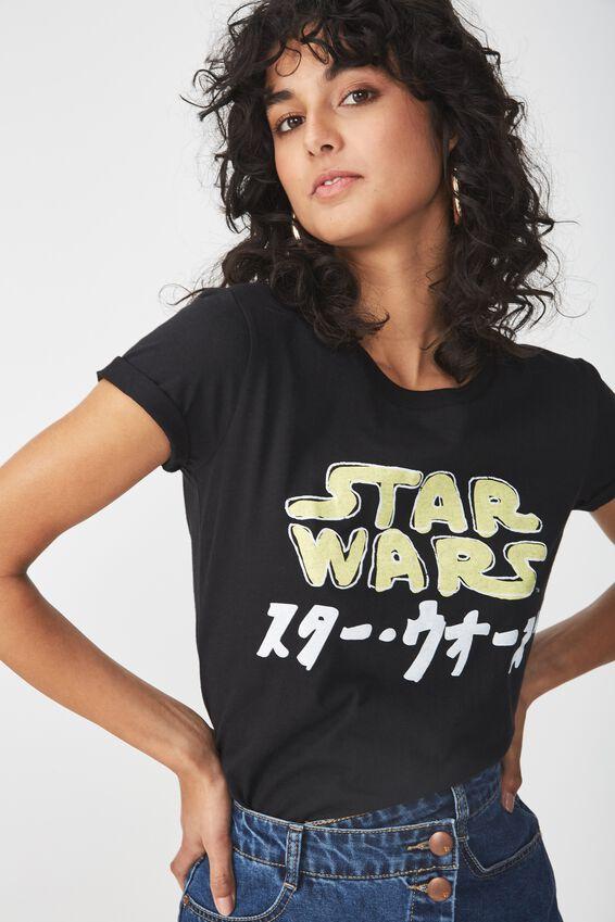 Star Wars Graphic T Shirt, LCN STAR WARS JAPANESE LOGO/BLACK