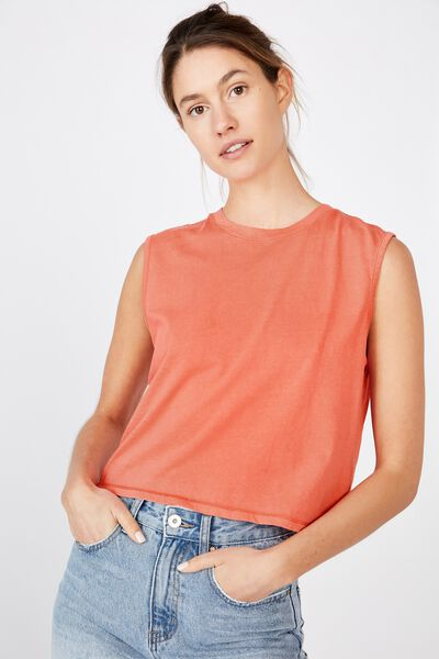 The Chop Muscle Tank, WASHED MELON