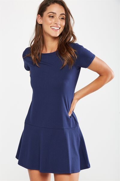 Suki Fit And Flare Dress, NAVY