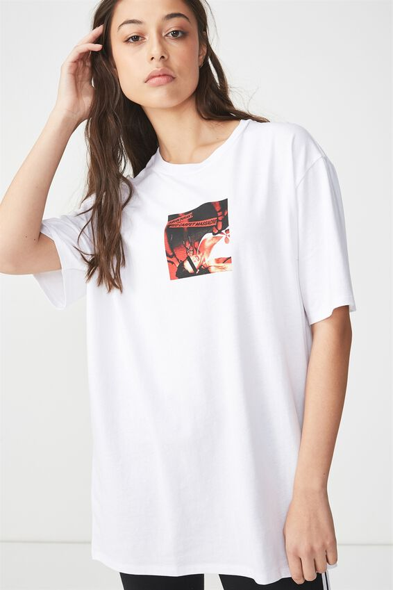 The Graphic Boyfriend Tee, LCN DURAN DURAN RED CARPET/WHITE