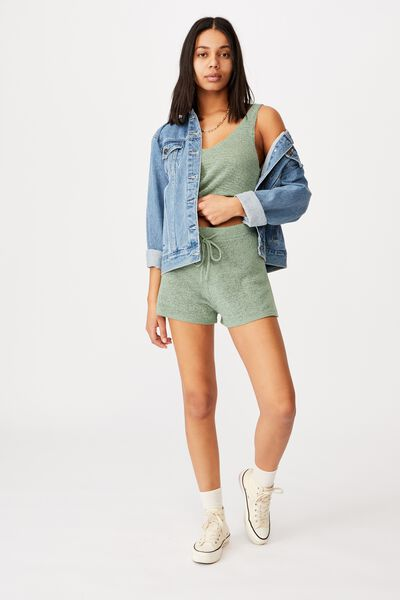 Match Me Knit Short, SEAFOAM GREEN