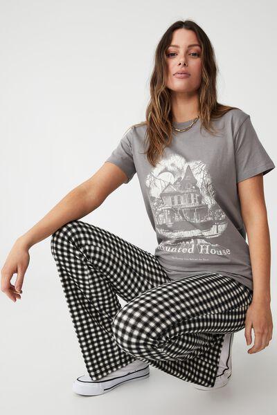 Classic Arts T Shirt, HAUNTED HOUSE/THUNDER GREY