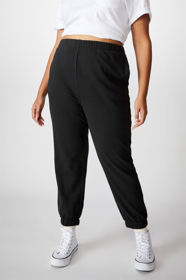 Curve High Rise Trackpant, WASHED BLACK