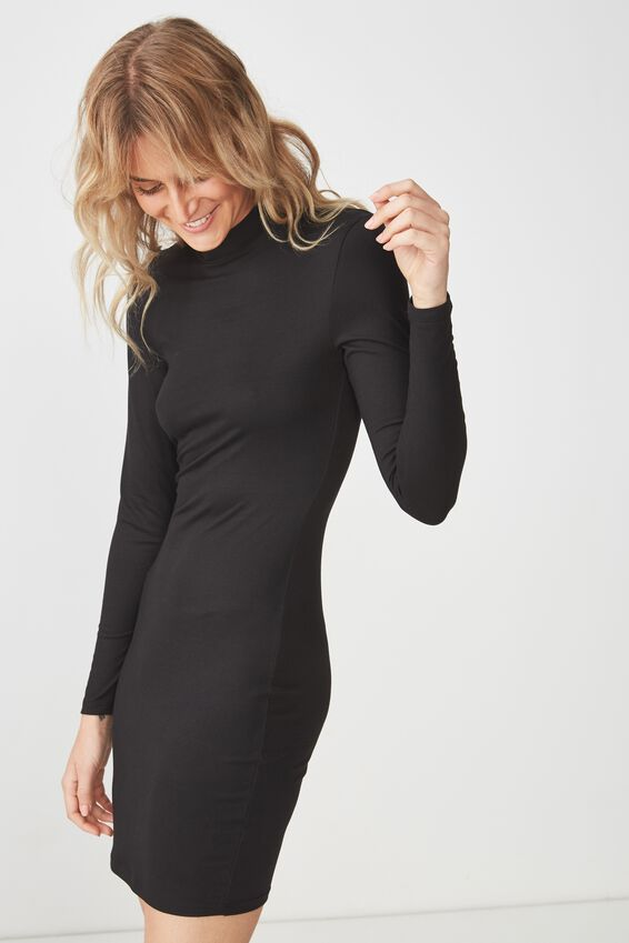 Chicago Ls Bodycon, BLACK