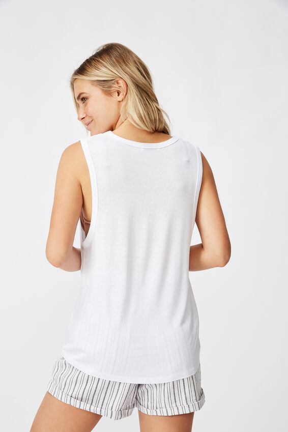 The Parker Scoop Tank, WHITE