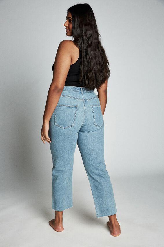 Curve Straight Stretch High Rise Jean, BOSTON BLUE