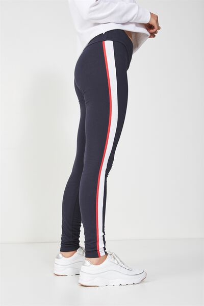 Tranquil Legging, MOONLIGHT CHILI RED/WHITE SPLICE