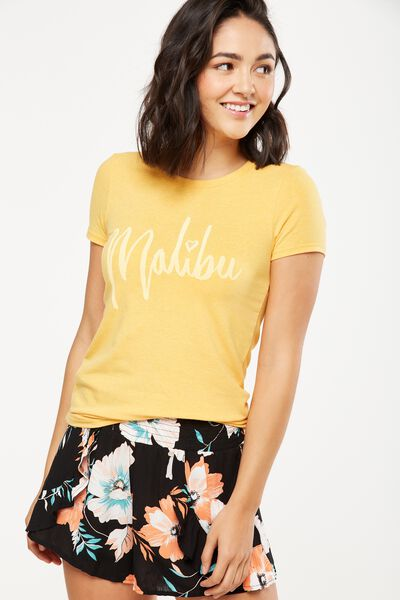 Tbar Hero Graphic T Shirt, MALIBU/SUNFLOWER MARLE