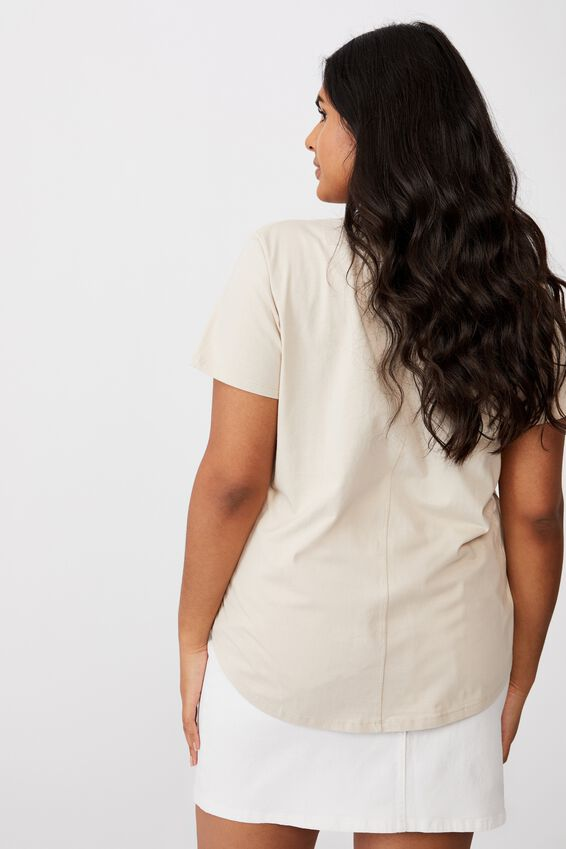 Curve The One Scoop Tee, LATTE