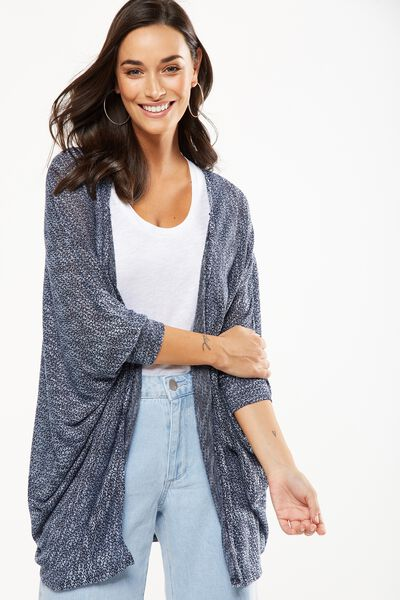 Ot Lila Short Cardigan, BLUE HAZE TWIST