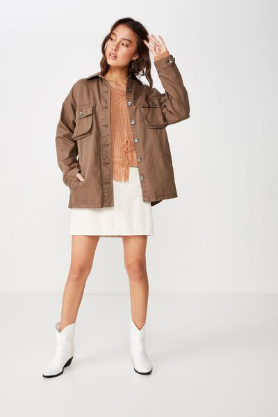 Workwear Jacket, BROWNIE