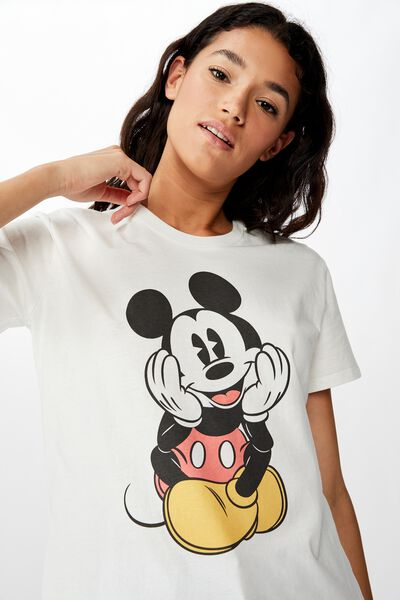 Classic Mickey And Co T Shirt, LCN DIS MICKEY FRONT AND BACK/GARDENIA