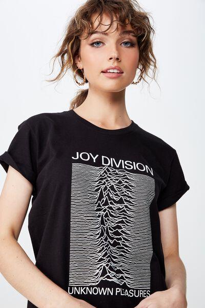 Classic Band T Shirt, LCN WMG JOY DIVISION/BLACK