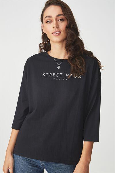The Amelia Longsleeve, STREET HAUS/BLACK