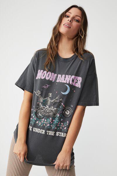 Boyfriend Fit Graphic Tee, MOON DANCER/SLATE GREY