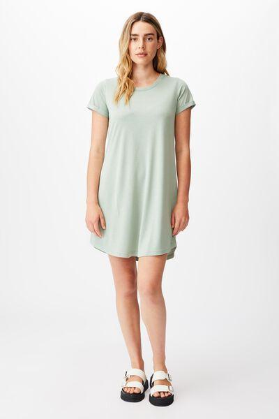 Tina Tshirt Dress 2, LUSH GREEN