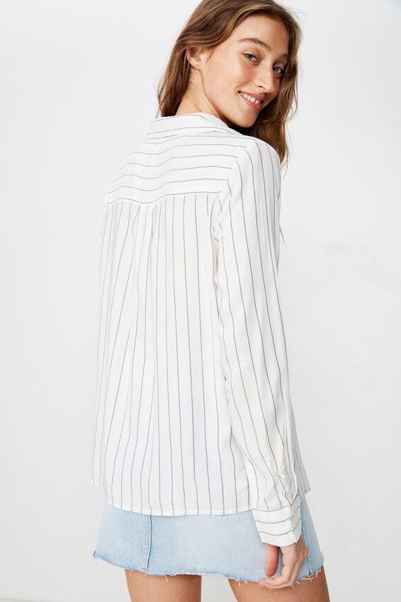 Blake 365 Shirt, HANNAH STRIPE CANNOLI CREAM