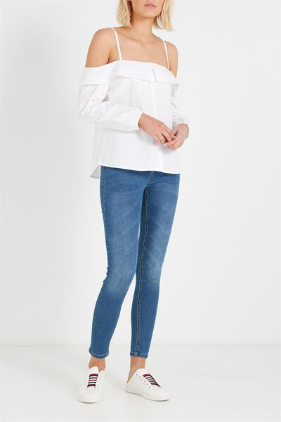Mid Rise Jegging, STONE BLUE