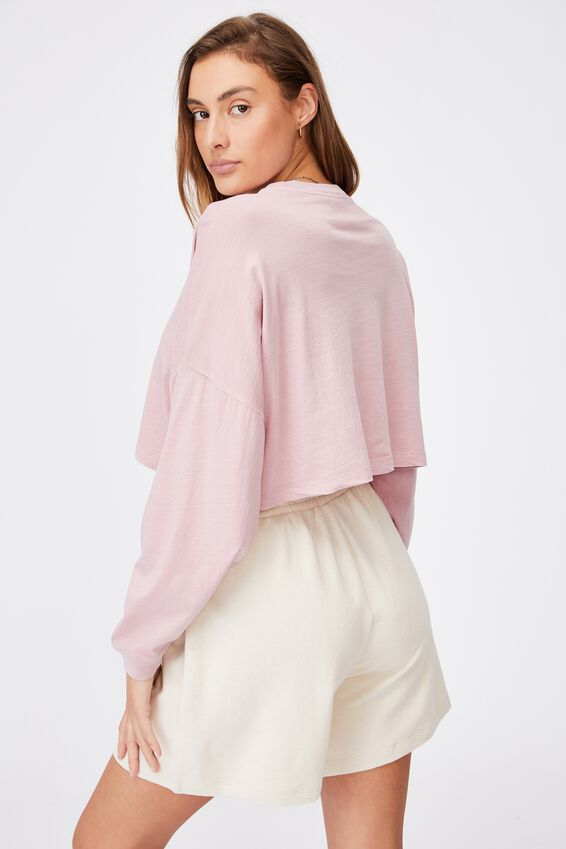 Kyle Batwing Long Sleeve Top, WASHED BLUSH