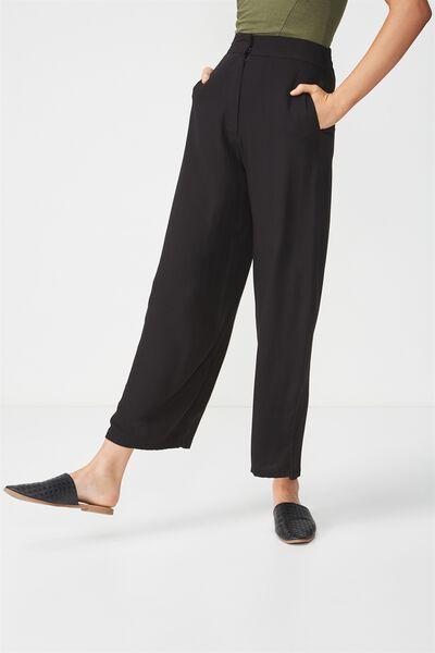Wide Leg Drapey Pant, BLACK