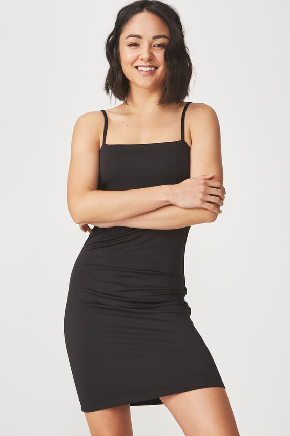 Freya Bodycon Dress, BLACK