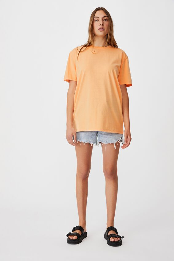 The Oversized Dad Tee, WASHED ICY APRICOT