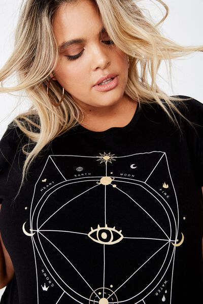 Curve Graphic Tee, CELESTIAL/BLACK