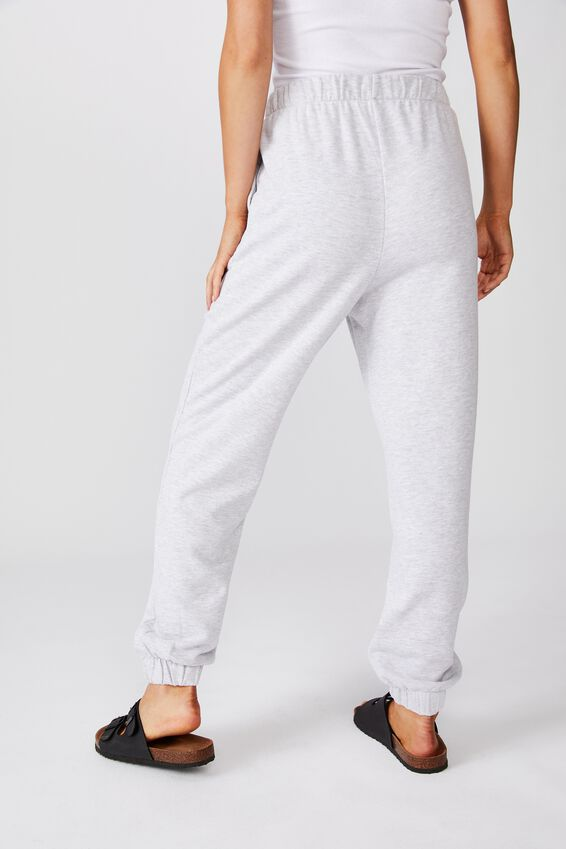 High Waisted Trackpant, SILVER MARLE