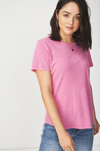 The Crew T Shirt, WASHED ROSE VIOLET