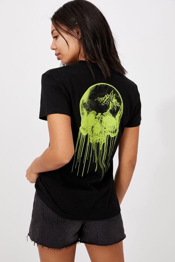 Classic Metallica T Shirt, LCN PRO METALLICA SLIME/BLACK