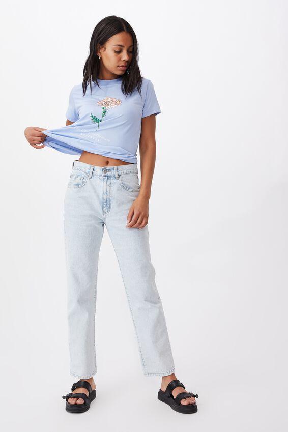Classic Birthday Flower Graphic T Shirt, NOVEMBER BIRTHFLOWER/CASHEMERE BLUE