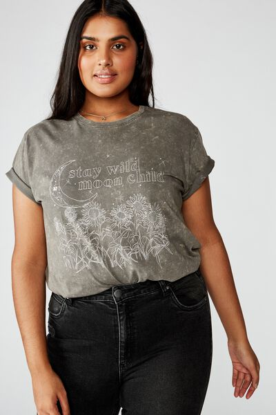 Curve Graphic Tee, STAY WILD/SLATE GREY