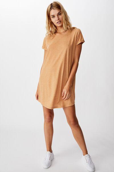 Tina Tshirt Dress 2, APPLE CINNAMON MARLE