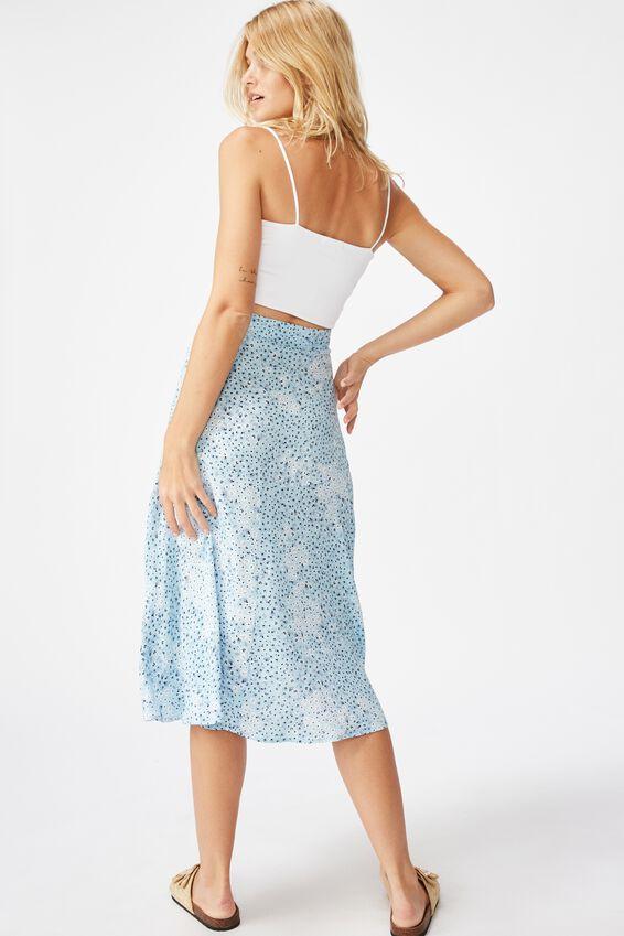 Botanical Midi Skirt, MANDY MULTI DITSY CERULEAN