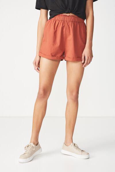 Maisy Paperbag Short, TERRACOTTA