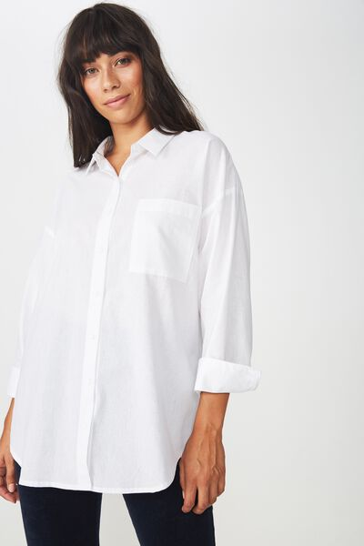 Casual Hudson Shirt, WHITE