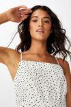 Woven Kendall Mini Dress, NADIA SPOT CANNOLI CREAM